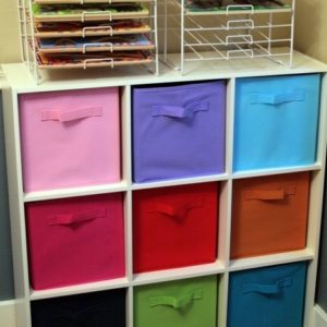 Kids Storage Shelves With Bins