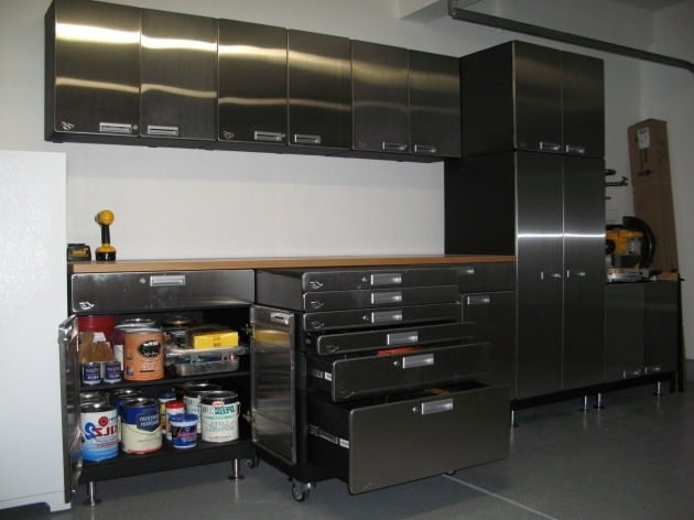 Amazing After Garage Makeover Design With Metal Garage Storage Cabinets Used Metal Storage Cabinet