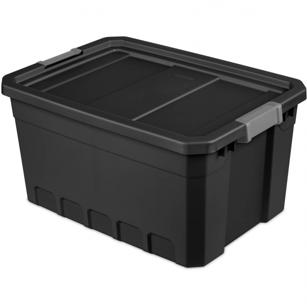 Amazing Sterilite 19 Gallon Stacker Tote Black Case Of 6 Walmart Sterilite Storage Bins