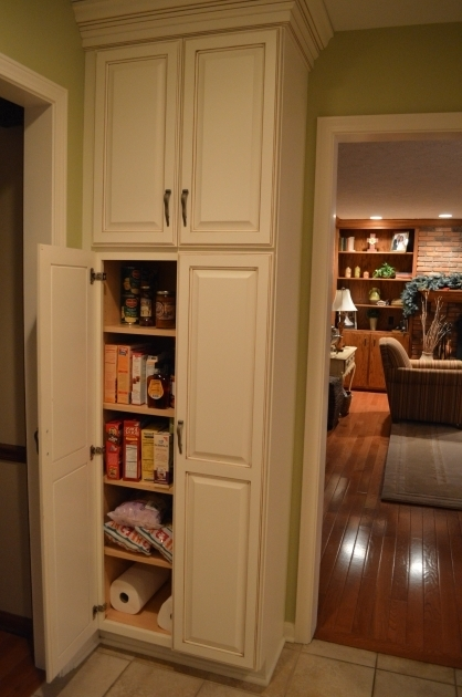 Amazing White Wooden Tall Narrow Pantry Cabinet With 4 Maple Wood Shelves Tall Wood Storage Cabinets With Doors