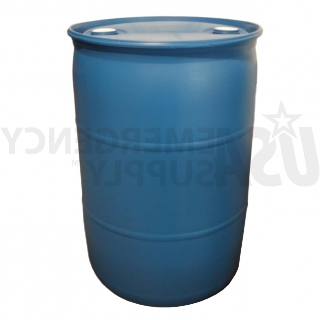 Awesome Fifty Five Gallon Water Barrel Usa Emergency Supply 55 Gallon Water Storage Containers