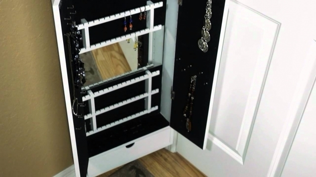 Best Cabidor Jewelry Storage Cabinet Behind The Door Storage Youtube Behind The Door Storage Cabinet