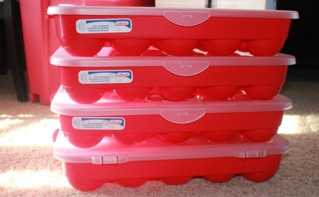 Best Red And White Plastic Christmas Storage Containers With White Christmas Storage Bins