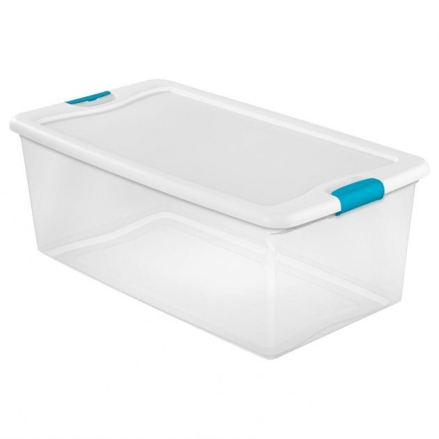 Best Sterilite Latching 106 Qt Storage Box 4 Pack 14998004 The Sterilite Storage Bins
