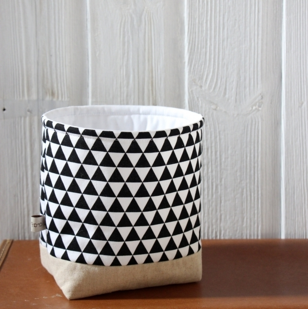 Fantastic Fabric Storage Basket Modern Black And White White Fabric Storage Bins