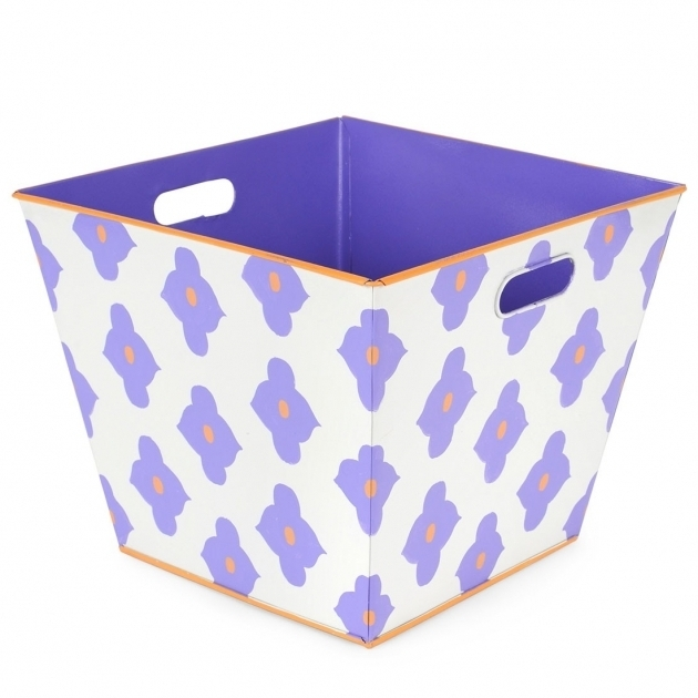 Fantastic Felix Purple Storage Bin Home Decor At Belleandjune Purple Storage Bins