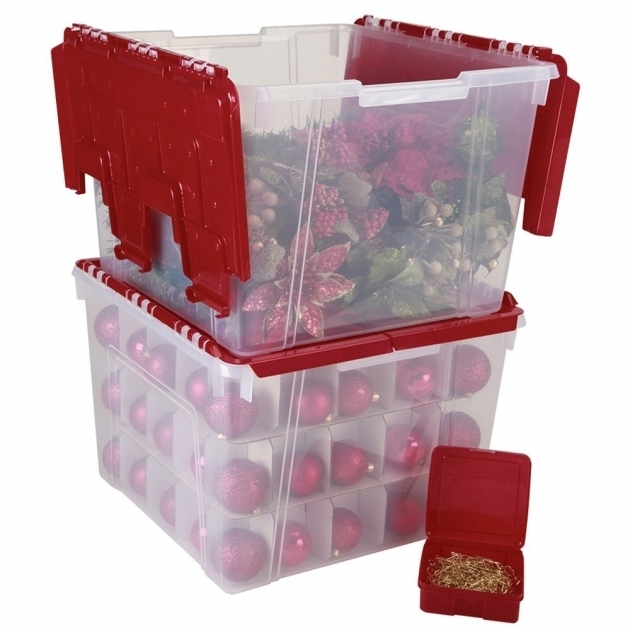 Fantastic Simple Transparent Plastic Ornament Storage Container Keep Container Store Ornament Storage