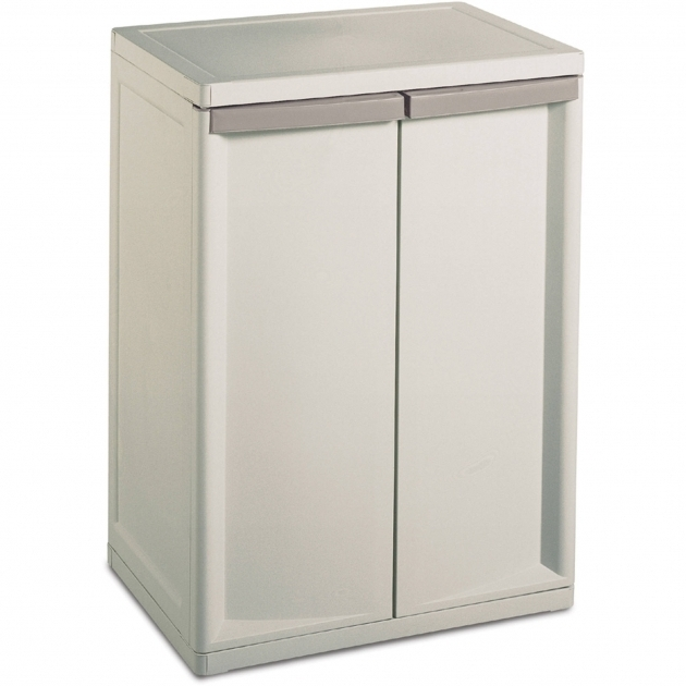 Fantastic Sterilite 2 Shelf Storage Cabinet Walmart Plastic Storage Cabinets For Garage