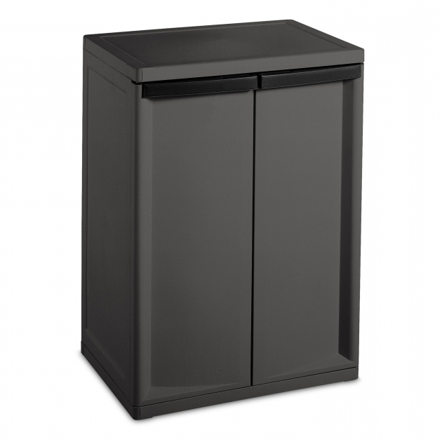Fantastic Sterilite Heavy Duty 2 Shelf Cabinet Reviews Wayfair Sterilite 2 Shelf Storage Cabinet