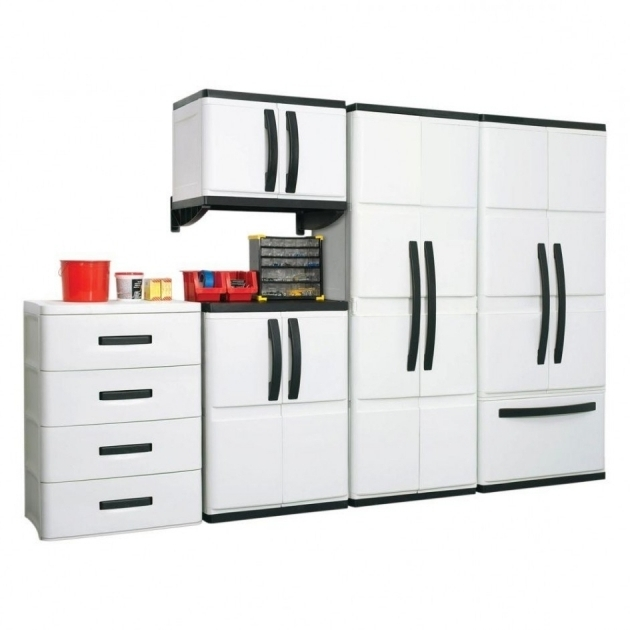 Fascinating Overwhelming Grey Metal Garage Storage Cabinet Metal Construction Plastic Storage Cabinets For Garage