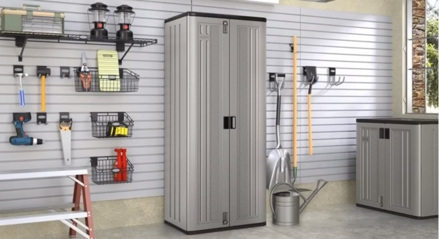 Fascinating Suncast Tall Storage Cabinet Youtube Suncast Tall Storage Cabinet