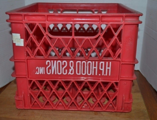 Fascinating Vintage Plastic Red Milk Crate Hood And Son Dairy Storage Bin Milk Crate Storage Bin