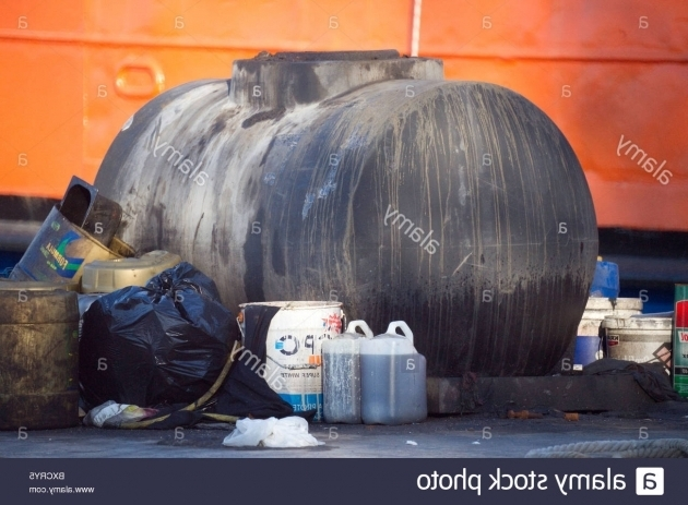 Fascinating Waste Oil Storage Container For Used Engine Oil At A Harbour In Waste Oil Storage Container