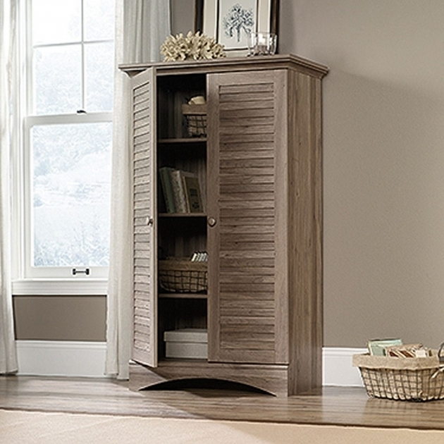 Gorgeous Harbor View Storage Cabinet Salt Oak D Sauder Woodworking Afw Sauder Harbor View Storage Cabinet