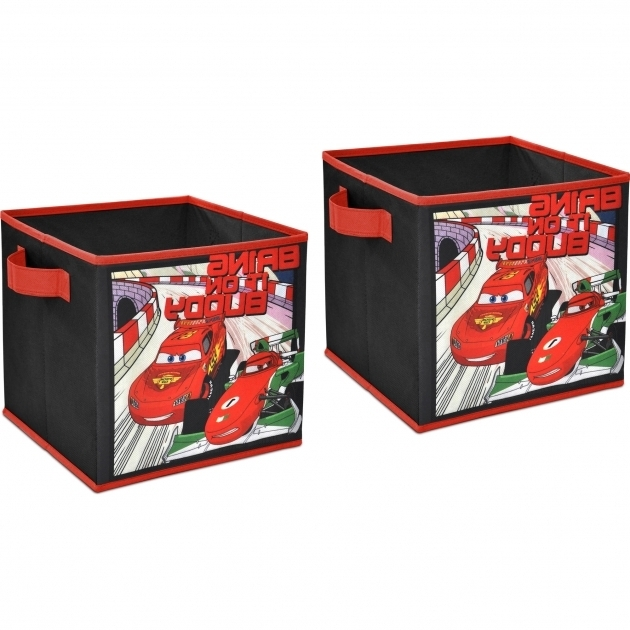 Image of Disney Cars 2 Pack Storage Cube Walmart Car Storage Bins