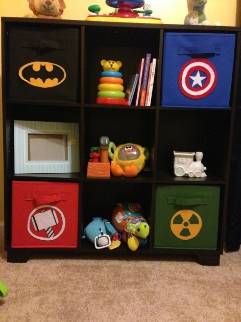 Image of Diy Superhero Bins Penny Wise Diys Superhero Storage Bins