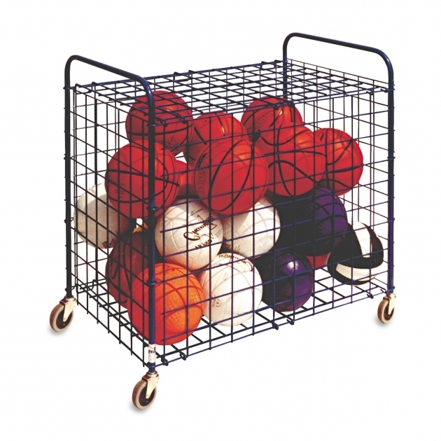Image of Lockable Ball Storage Cart Champion Sports Csilfx Ball Storage Bin