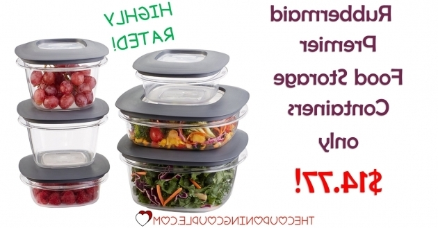 Image of Rubbermaid Premier Food Storage Containers 12 Piece 1477 Rubbermaid Premier Food Storage Containers
