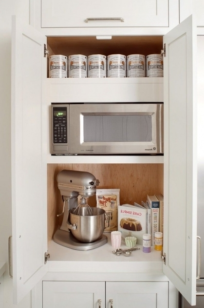 Incredible 17 Best Ideas About Microwave Storage On Pinterest Microwave Microwave Cabinet With Storage