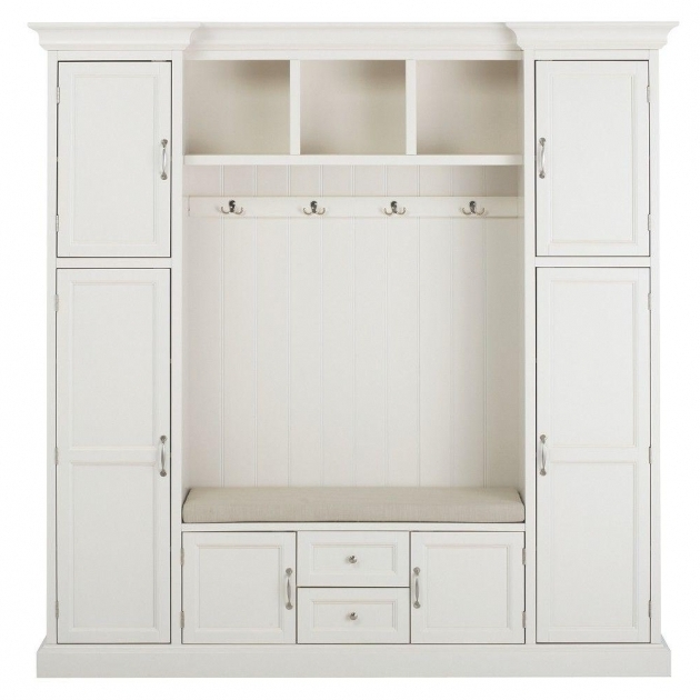 Incredible Home Decorators Collection Royce Polar White Hall Tree 7474200410 Mudroom Storage Cabinets