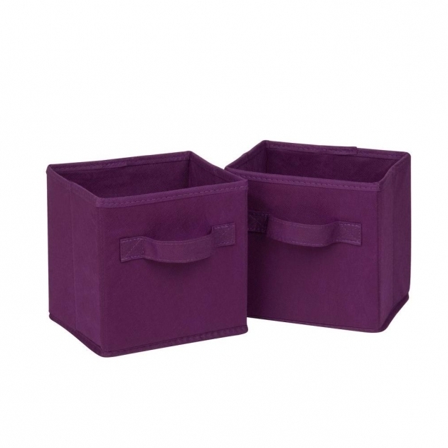 Incredible Honey Can Do 49 Qt Mini Non Woven Foldable Cube Bin In Purple 6 Purple Storage Bins