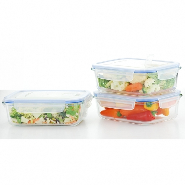 Incredible Kinetic Go Green Glasslock Elements 3 Piece Food Storage Container Glasslock Food Storage Container Sets