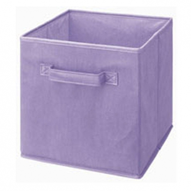 Inspiring Closetmaid Cubeicals 11 In H X 11 In W X 11 In D Fabric Storage Purple Storage Bins