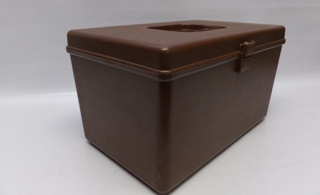 Inspiring Deluxe Sewing Storage Box With Two Trays From Elritmoretro On Etsy Sewing Storage Containers