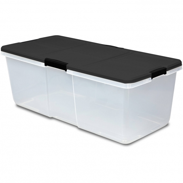 Inspiring Hefty 100qt Latched Storage Box Extra Large Capacity Walmart Hefty Storage Bins