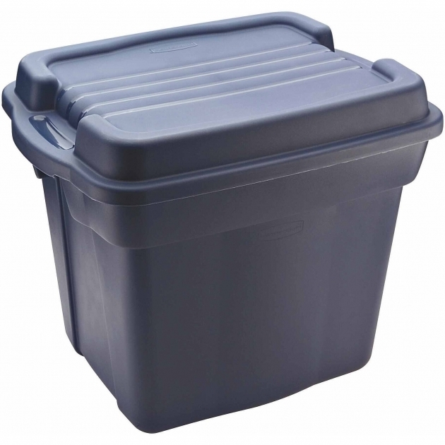 Inspiring Rubbermaid Roughneck Tote High Top Storage Bin 24 Gal Dark Tupperware Storage Bins
