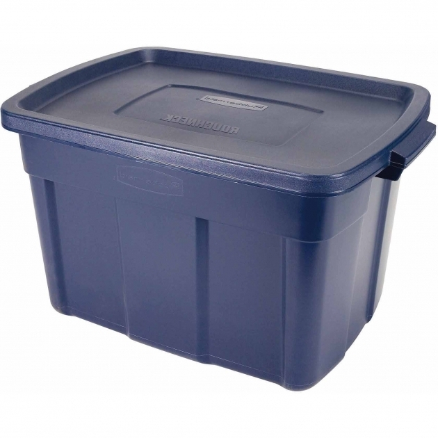 Inspiring Rubbermaid Roughneck Tote Storage Bin 25 Gal Dark Indigo Tupperware Storage Bins