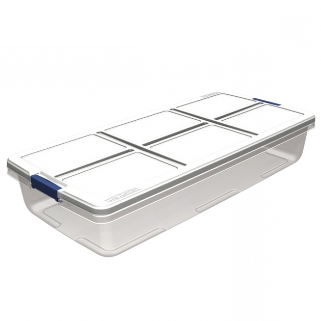 Inspiring Shop Hefty 52 Quart Underbed Tote With Latching Lid At Lowes Under Bed Storage Bins