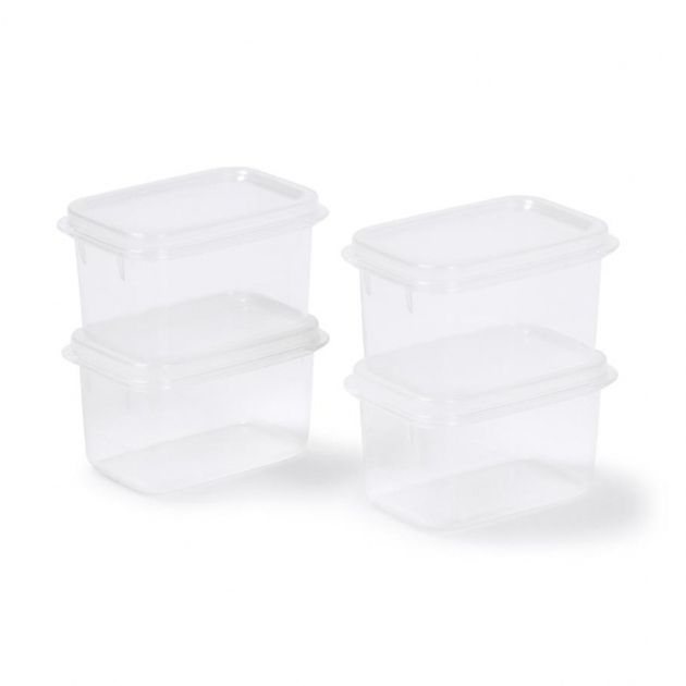 Inspiring Small Plastic Food Storage Containers 250ml Set Of 4 Kmart Kmart Plastic Storage Bins