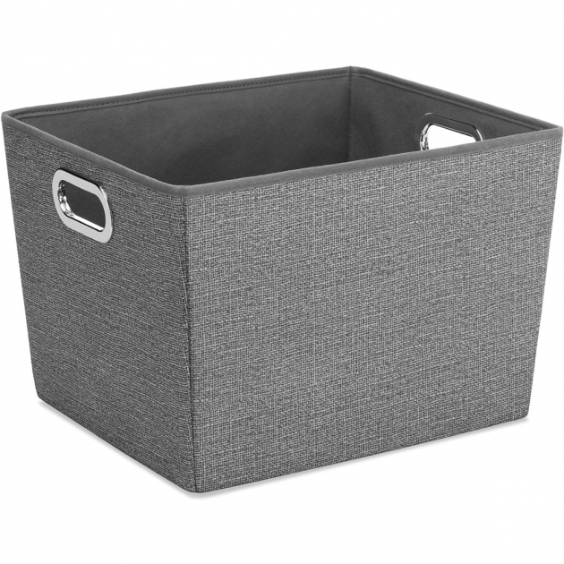 Marvelous Decorating With Fabric Storage Bins The Home Redesign White Fabric Storage Bins
