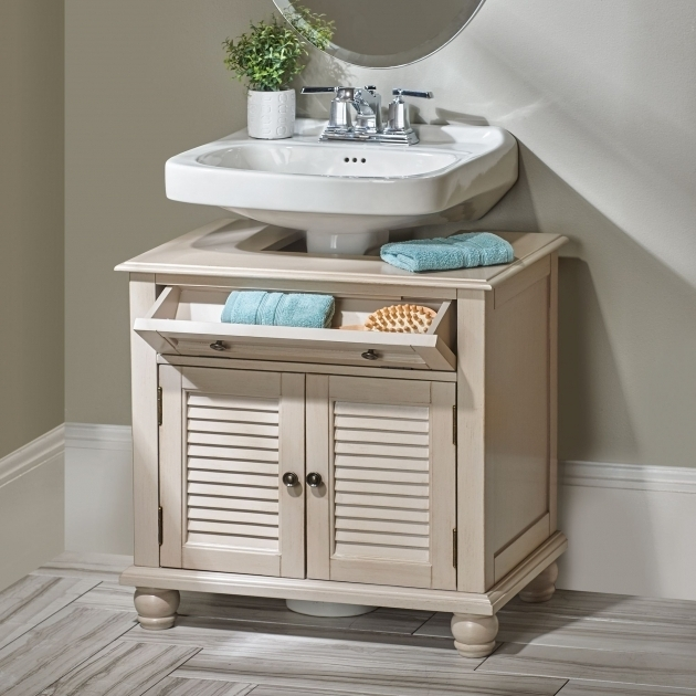 Marvelous Newport Louvered Pedestal Sink Cabinet Storage Cabinets Neutral Bathroom Pedestal Sink Storage Cabinet