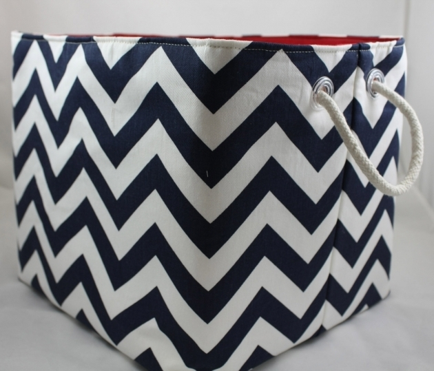 Marvelous Storage Bin Zigzag Bin Choose Your Color Combinations Rope Large Fabric Storage Bins