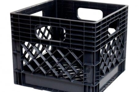 Milk Crate Storage Bin