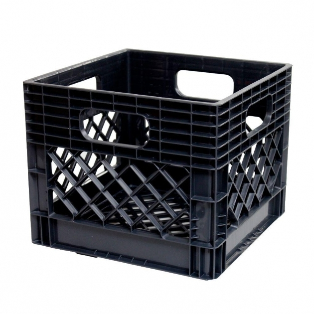 Outstanding Gsc Technologies 11 In X 13 In X 13 In Black Milk Crate Milk Crate Storage Bin