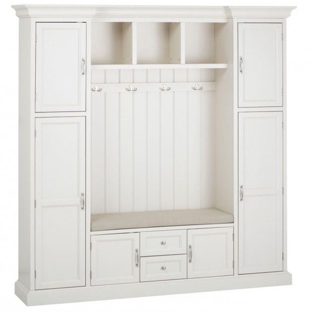 Outstanding Home Decorators Collection Royce Polar White Hall Tree 7474200410 Mudroom Storage Cabinets