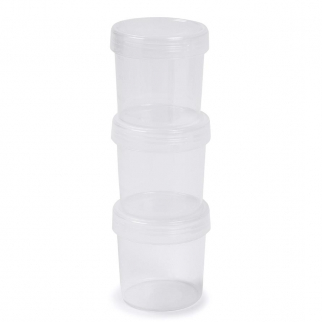 Picture of 500ml Round Containers Set Of 3 Kmart Kmart Plastic Storage Bins