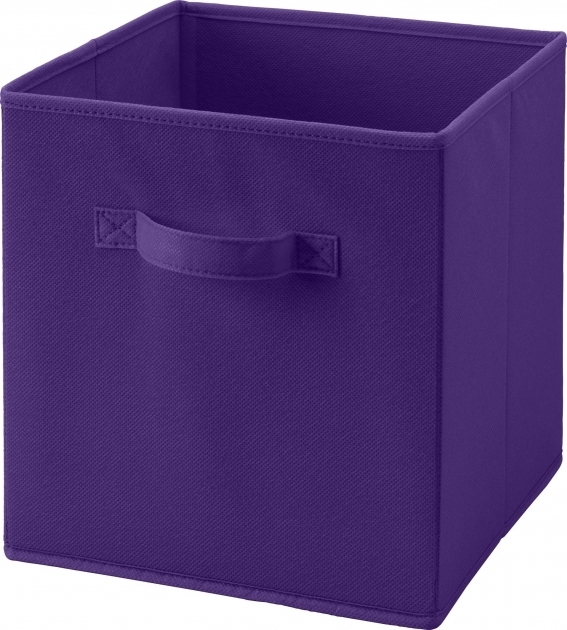 Picture of Ameriwood Furniture Systembuild Fabric Storage Bin Purple Purple Storage Bins