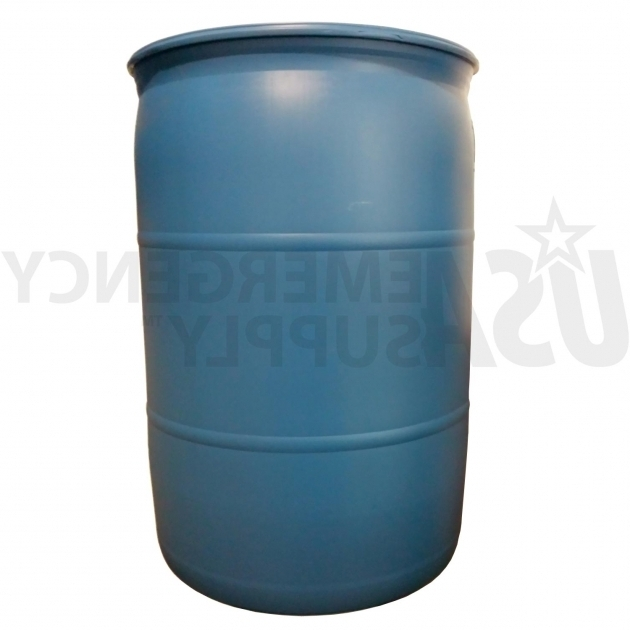 Picture of Fifty Five Gallon Water Barrel Usa Emergency Supply 55 Gallon Water Storage Containers