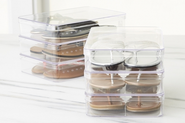 Picture of Heeled Shoe Boxes The Container Store Container Store Shoe Storage