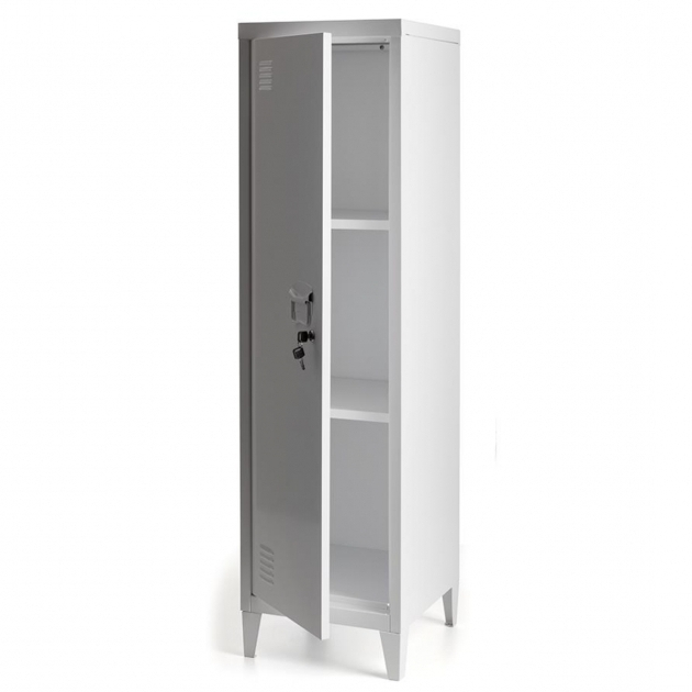 Remarkable Awesome White Metal Lockable Storage Cabinet Tapered Shaped Feets Used Metal Storage Cabinet
