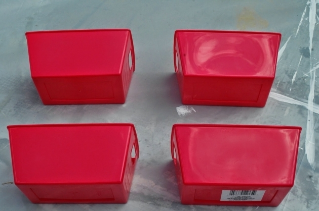 Stunning Dollar Store Storage Container Makeover Little House Of Four Red Plastic Storage Bins