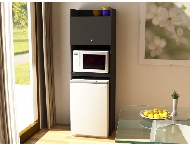Stunning Mini Fridge Storage Cabinet Microwave Refrigerator Kitchen Space Microwave Cabinet With Storage