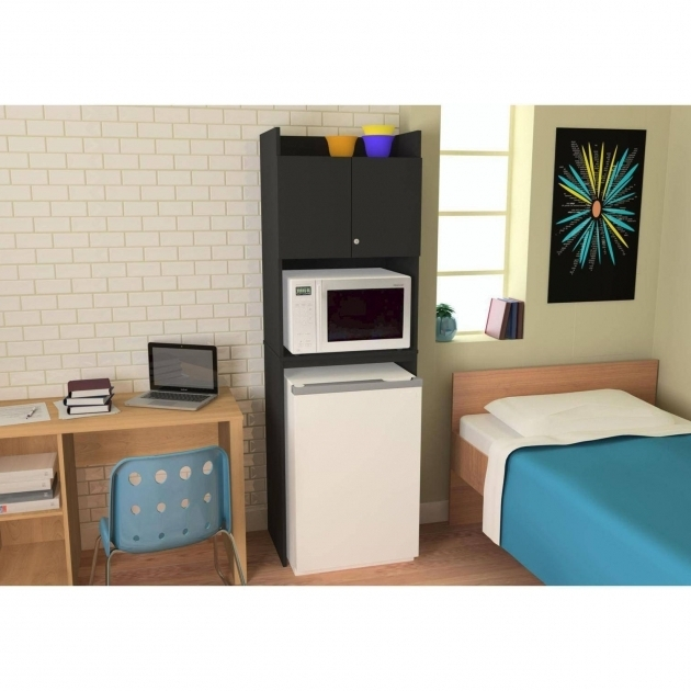 Stylish Refrigerator Storage Black Stipple Walmart Mini Fridge Storage Cabinet
