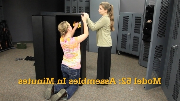 Alluring Model 52 Cabinet Assembles In Minutes Gun Storage Solutions Secureit Tactical Model 52 Six Gun Storage Cabinet