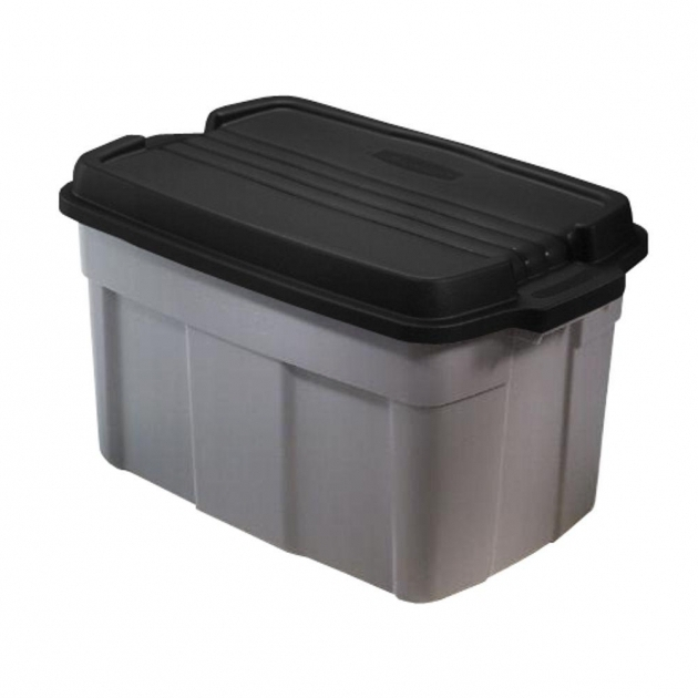 Amazing Rubbermaid Roughneck 37 Gal Storage Tote In Gray 3 Pack Storage Bins At Home Depot