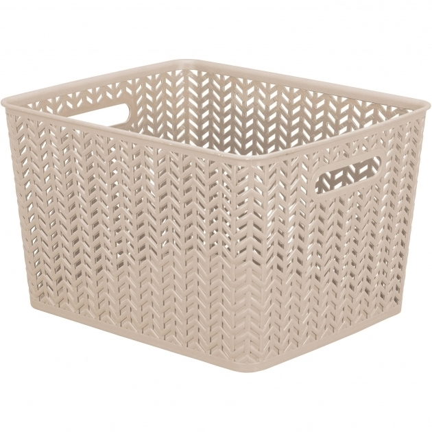 Awesome Baskets Bins Walmart Coral Storage Bins